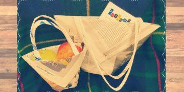 新聞紙で作る簡単エコバッグの作り方