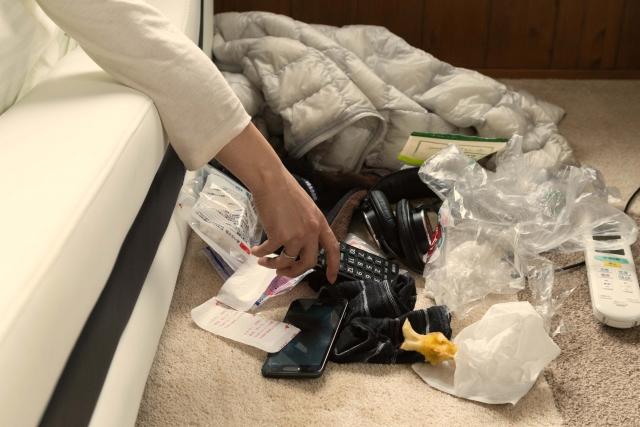 ゴミの多い部屋