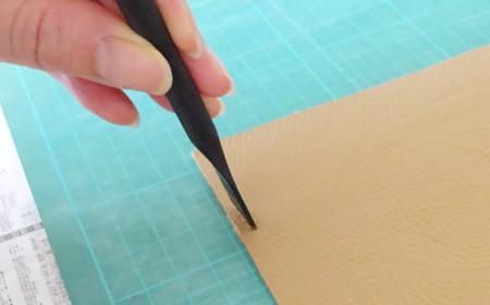 革製ブックカバーの作り方10