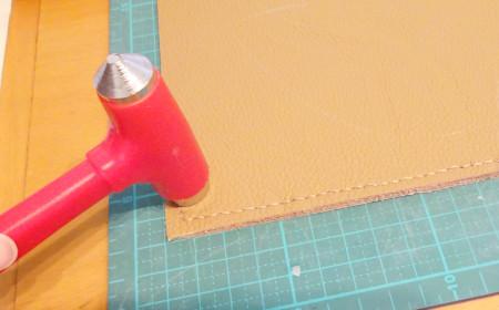 革製ブックカバーの作り方16