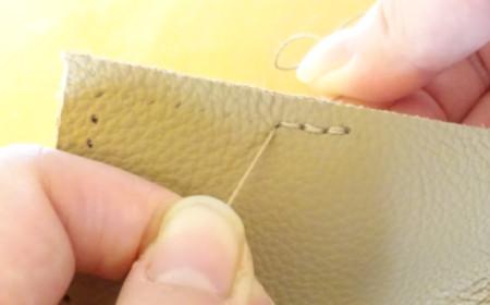 革製ブックカバーの作り方15