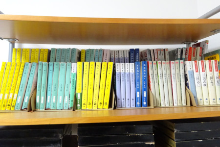 コミック・文庫本が収納できるブックスタンド使用後